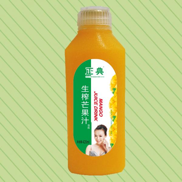 420ml正典生榨芒果汁方塑料瓶
