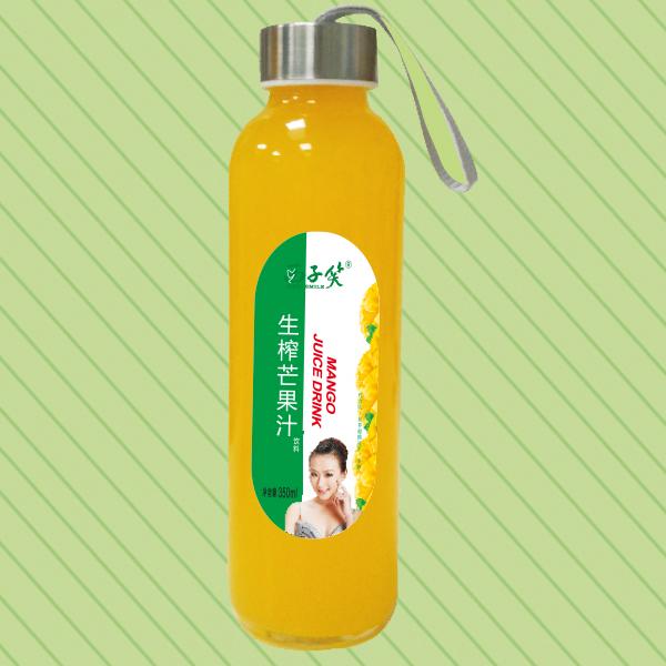 350ml西子笑生榨芒果汁水杯瓶