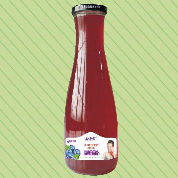 1L西子笑野生蓝莓汁大口瓶