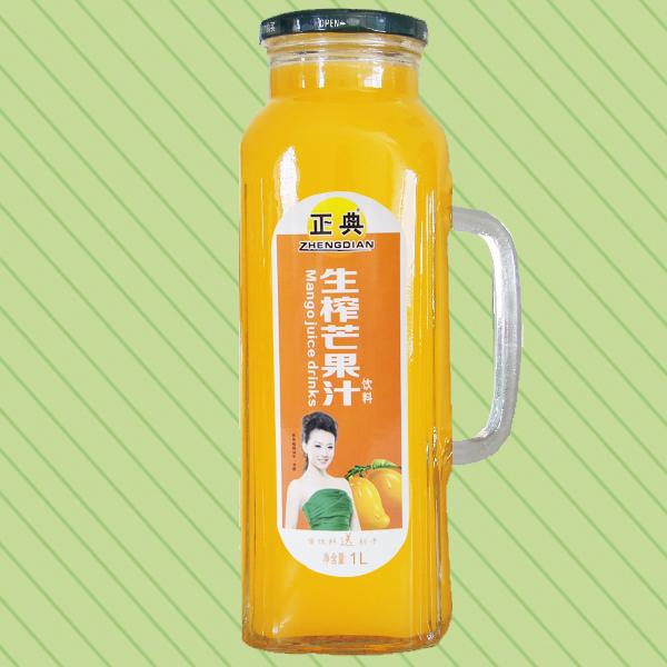 1L正典生榨芒果汁把手瓶