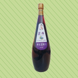 1.5L正典野生蓝莓汁小口瓶