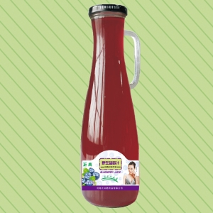 1.5L正典野生蓝莓汁把手瓶