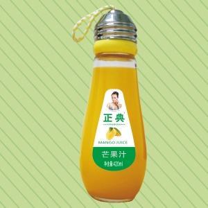 420ml正典生榨芒果汁灯泡瓶