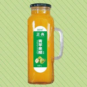 1L正典青苹果醋把手瓶