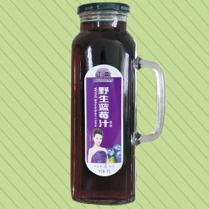 1L正典野生蓝莓汁把手瓶